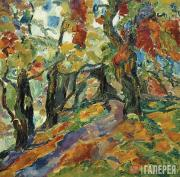 Vasily ROZHDESTVENSKY. Landscape with an Alley. 1909–1910