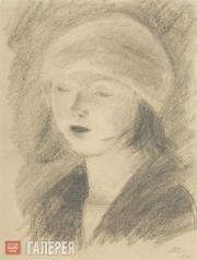 Chernyshev Nikolai. Girl Singing in a Chorus. 1925