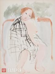Mavrina Tatyana. Nude in a Checkered Cloth (In a Bath-house). 1929