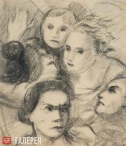 Chekrygin Vasily. Faces. 1920