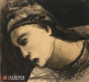 Chekrygin Vasily. Head of a Woman. 1920
