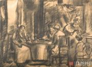 Zhegin Lev. Domestic Interior. Early 1920s