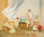 Kashina-Pamyatnykh Nina. Children's Nursery. 1934