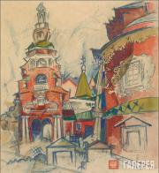 Kuprin Alexander. Fili. Church of Michael the Archangel. 1921