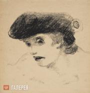 Chekrygin Vasily. Mad Woman. 1922