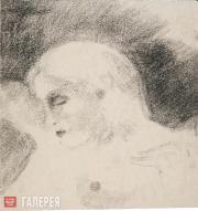 Chekrygin Vasily. Female Nude in Profile. 1922