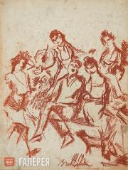 Chekrygin Vasily. A Jolly Crowd. 1919