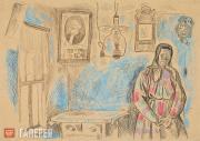 Popkov Viktor. Blue Interior. 1967-1968