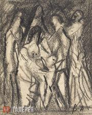 Chekrygin Vasily. Multi-figure Сomposition. Late 1910s-early 1920s