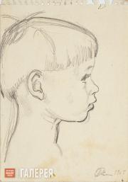 Жилинский Дмитрий. Портрет сына. 1964