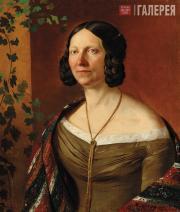 Khrutsky Ivan. Portrait of Anna Rubtsova. 1841 (?)
