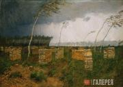 Levitan Isaaс. The Storm. Rain. 1899
