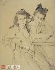 Serov Valentin. Portrait of Children (N.A and T.A. Kasianov). 1907