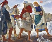 Serebryakova Zinaida. Bleaching the Linen. 1917