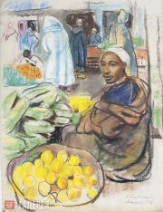 Serebryakova Zinaida. Fruit-seller. Marrakesh. 1928