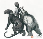 Ватагин Василий Алексеевич. Иллюстрация к книге Р.Киплинга «Маугли». 1926