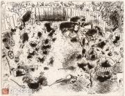 Chagall Marc. Mrs. Korobochka's yard. 1927