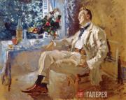 Korovin Konstantin. Portrait of the Artist Feodor Chaliapin. 1911