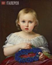 Pyotr Shamshin. Portrait of Yekaterina F. Tolstaya. 1845