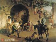 Khudyakov Vasily. Playing Stone Balls. 1860