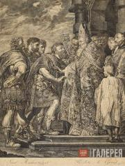 Jakob Matthias Schmutzer. Theodosius and Ambrose. 1784