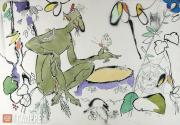 """Urmanche Baky. Illustration to Gabdulla Tukay's Poem-Fairy-Tale """"Shuraleh"""". 1980"""