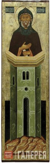 Simeon Stylites from the Deesis Tier. Mid 17th century