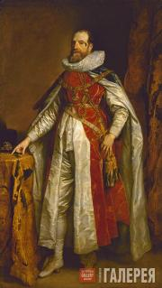 Dyck (Anthony van Dyck). Portrait of Henry Danvers, Earl of Danby in Garter Robe