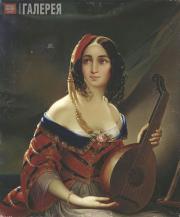 Scotti Mikhail. An Italian Woman. 1840s