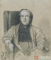 Scotti Mikhail. Portrait of V.I. Grigorovich, Conference Secretary of the Imperi