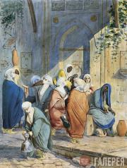 Scotti Mikhail. At a Fountain in Constantinople. 1845