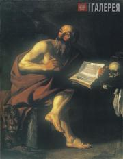 Jan JANSENS. St. Hieronimus Listening to the Trumpet announcing the Day of Judge