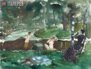 Somov Konstantin. Bathing Women. 1904