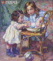 Nikolai A.TARKHOV. Children making cakes