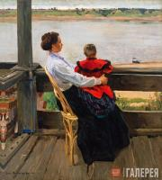 Vinogradov Sergei. Dacha on the Banks of the Volga. 1901