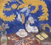 Kuznetsov Pavel. Still-life with Cigarette Case. 1913
