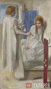 Dante Gabriel Rossetti. Ecce Ancilla Domini! (The Annunciation). 1849-1850