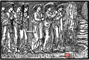 Edward Burne-Jones and William Morris. The Procession to the Hill: the Attendant