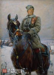 Kotov Pyotr. Semyon Timoshenko, Head of a Division of the 1st Cavalry Army. 1928
