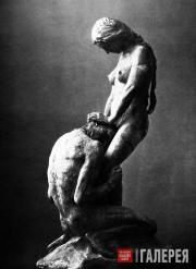 Вигеланн Густав. Коленопреклоненный мужчина и стоящая женщина. 1908