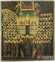The Assembly of the Kievo-Pechersky Saints. Second half of the 18th century
