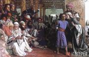 Хант Уильям Холман. Родители находят юного Иисуса в храме. 1854–1860