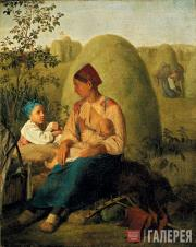 Venetsianov Alexei. Haymaking. Before 1827