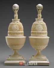Vereshchagin Nikolai. Pair of Ivory Vases. c. 1795-1800