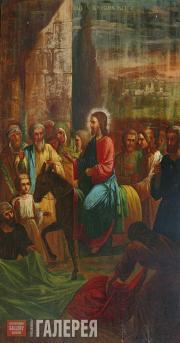 Grigory PLASTOV. Entrance into Jerusalem. 1880s