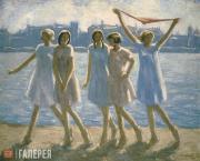 Chernyshev Nikolai. Coming Home after Bathing. 1928