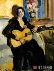 Korovin Konstantin. Lady with a Guitar. 1911