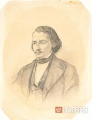 Gorbunov Kirill. Portrait of Ivan Sergeevich Turgenev. 1846