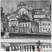 Торжок. Набережная. Из серии «Путешествие по Пушкинскому кольцу». 1978