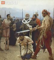Repin Ilya. St. Nicholas of Myra Saving Three Innocents from Death. 1888